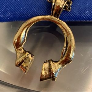 Low Luv by Erin Wasson Horse Hoof Gold Necklace